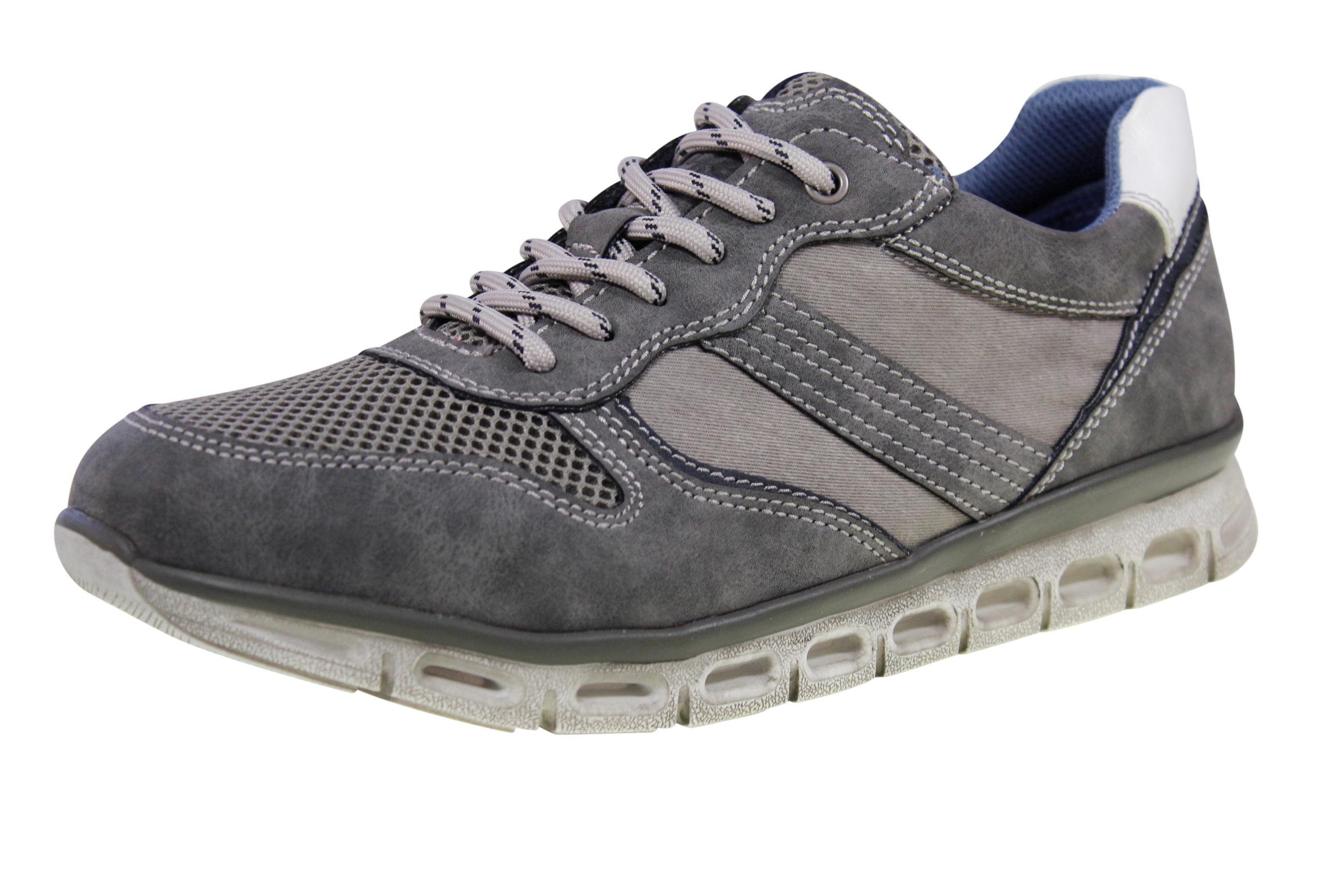 Details zu NEU Relife Komfort Herren Schuhe Sneaker Shoes Halbschuhe Schnürschuhe Grau rf13